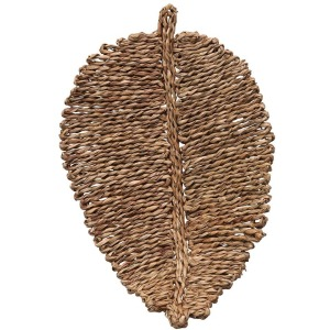 Woven Seagrass Leaf Shaped Placemat