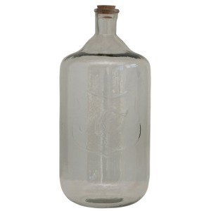 """Recycled Glass Bottle with Cork & Embossed """"No 3"""""""