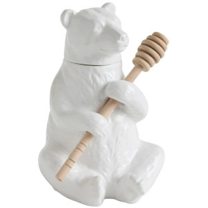 Bear Honey Pot with Honey Dipper, Set of 2