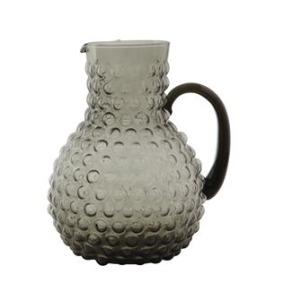 Glass Hobnail Pitcher - Smoke