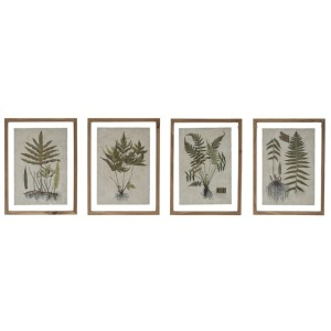 Wood Framed Wall Decor w/ Botanical Print, 4 Styles