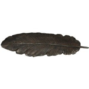 Cast Iron Feather Shaped Wall Dcor/Decorative Tray