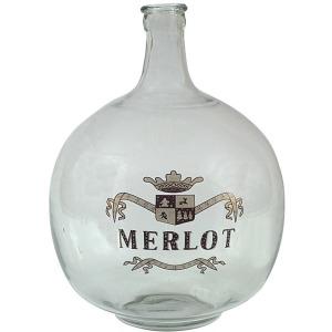 Glass Bottle w/ Hand-Painted Merlot Label