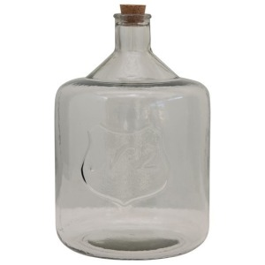 """Recycled Glass Bottle with Cork & Embossed """"No 2"""""""