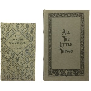 """MDF & Canvas Book Storage Boxes, Set of 2 """"All The Little Things"""""""