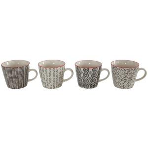 Stoneware Hand-Stamped Mug 4 Styles