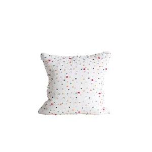 "18"" Square Cotton Pillow w/French Knots, Multi-Color"