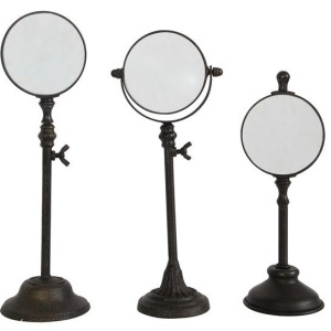 Metal Magnifying Glass On Stand - Set of 3