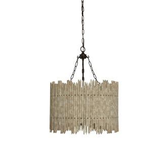 Birch Wood & Metal Chandelier Natural 40 Watt Bulb Maximum UL Listed