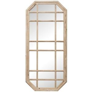 Wood Framed Octagon Mirror (Hangs Vertically & Horizontally)
