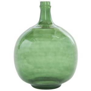 Vintage Reproduction Glass Bottle - Green