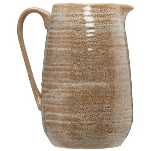 Stoneware Pitcher, Reactive Glaze - Putty