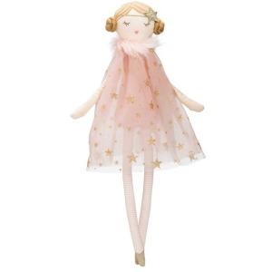 Cotton Doll w/ Star Dress - Pink