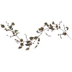 Faux Berries & Leaves Garland w/ Pinecones & Jingle Bells