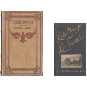 "MDF & Canvas Book Storage Boxes, Set of 2 ""Serge Panine"""