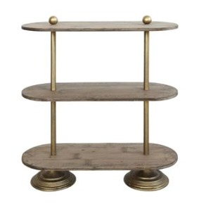 Metal & Wood 3 Tier Shelf