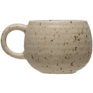 Stoneware Mug, Beige w/ Speckle
