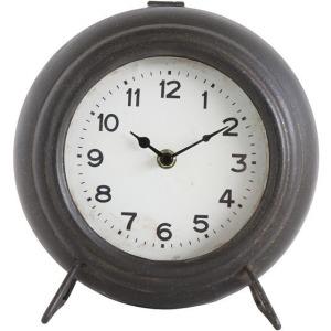 Metal Mantel Clock, Black