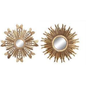 MDF Sunburst Mirror Gold Finish 2 Styles