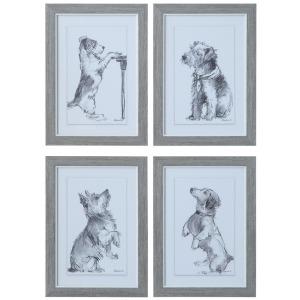 Framed Wall Decor w/ Dog - 4 Styles