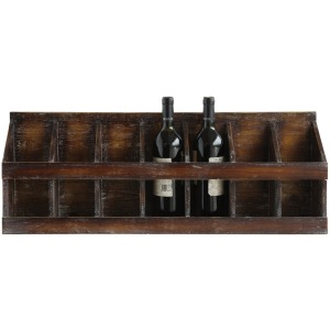 Wood Wine Holder Holds 7 Wine Bottles