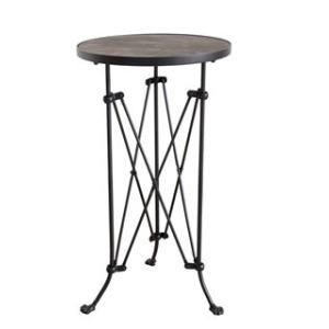 Metal Table w/ Wood Top