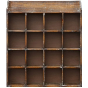 Wood Cubby w/ 16 Compartments