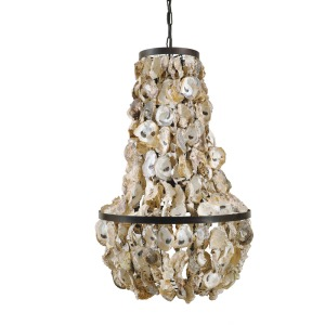 Oyster Shell Chandelier 60 Watt Bulb Maximum Hard Wire Only UL Listed
