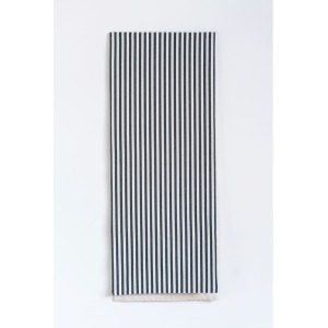 Cotton Striped Table Runner - Black