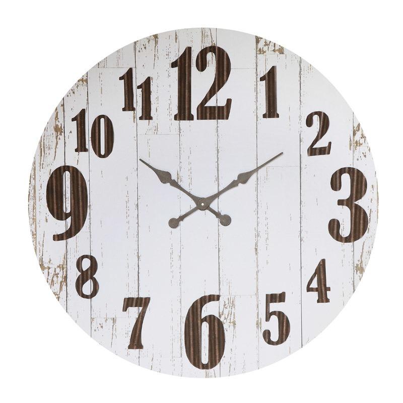 MDF & Metal Clock Requires 1AA Battery