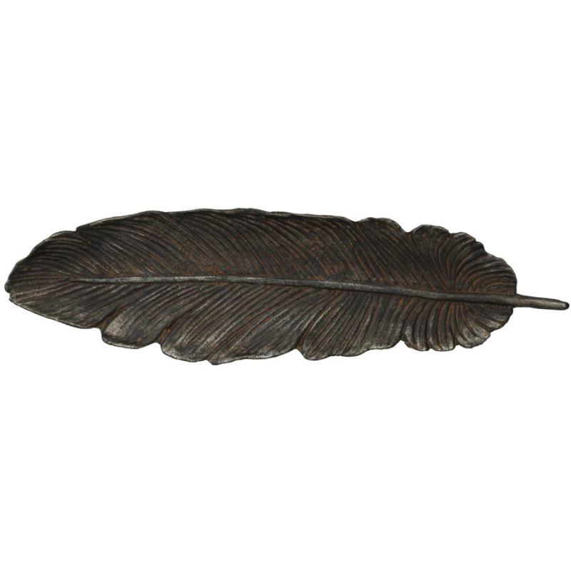 Cast Iron Feather Shaped Wall Dcor/Decorative Tray