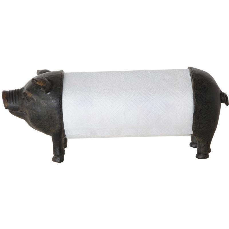 Metal & Resin Pig Shaped Paper Towel Holder
