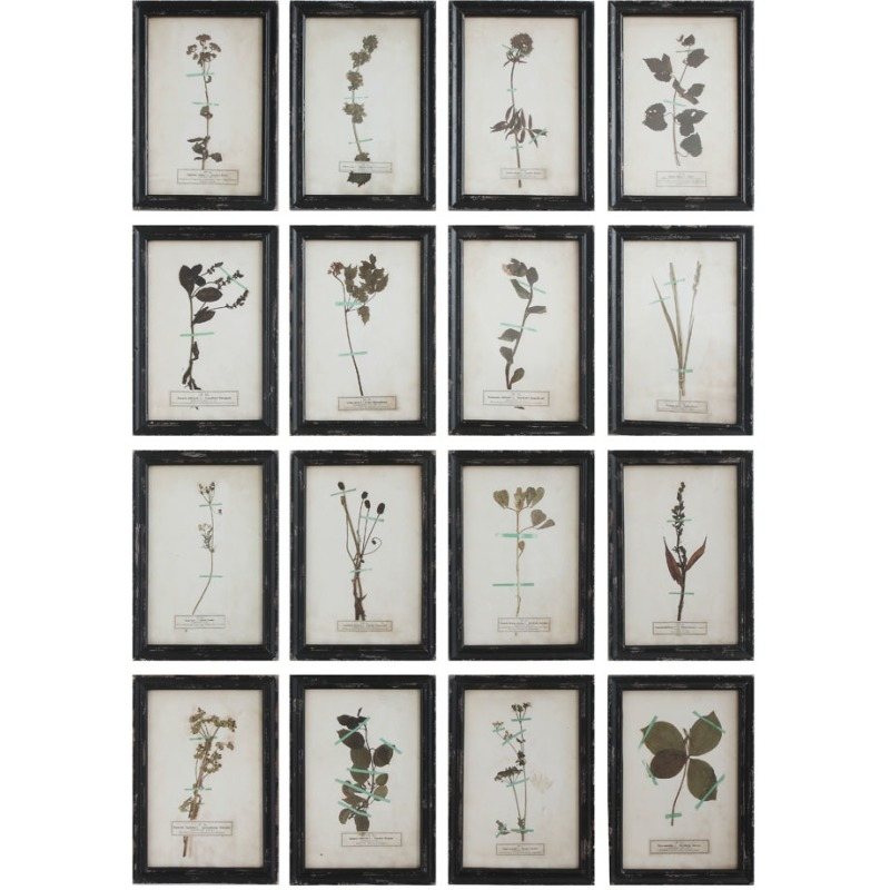Wood Framed Wall Dcor w/ Vintage Floral Image 16 Styles