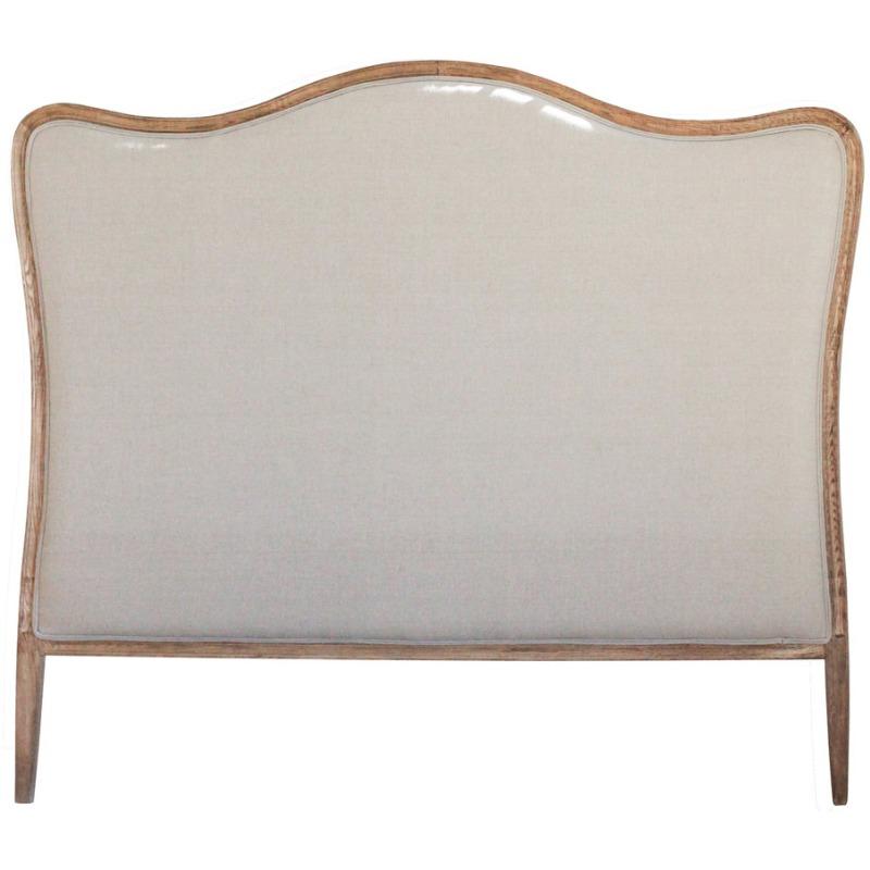 Oak & Linen King Size Headboard Linen Color