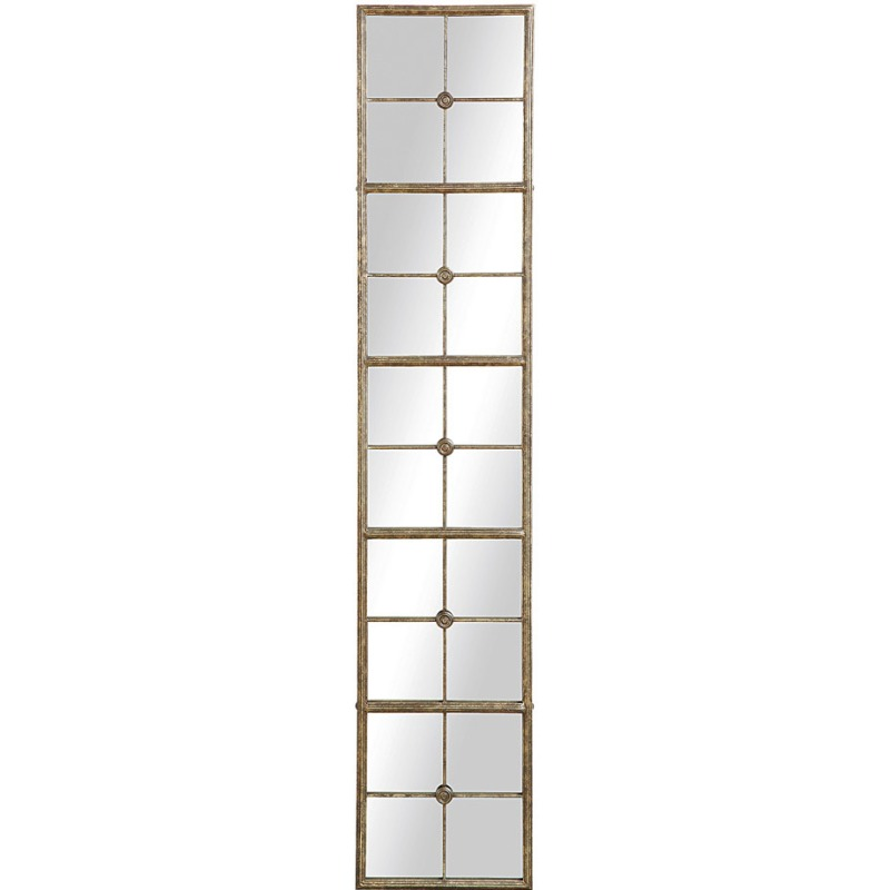 Metal Framed Mirror Gold Finish