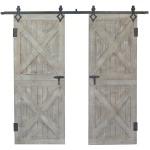 Double Rustic Barn Doors