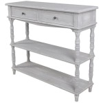 Weston Chalk Grey 2 Drawer Console
