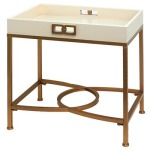 Melrose Gold And White Faux Shagreen Accent Table