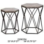 Buena Vista Rustic Metal And Wood Set Of Tables