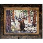 Elk Study Framed Art