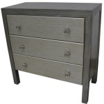 Baxter 3 Drawer Brushed Silver Two-tone Chest