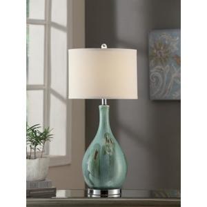 "Sea Scape Table Lamp 30""ht"