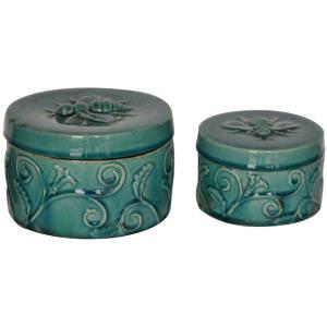 Round Ornate Boxes