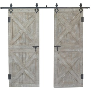 Double Rustic Barn Doors