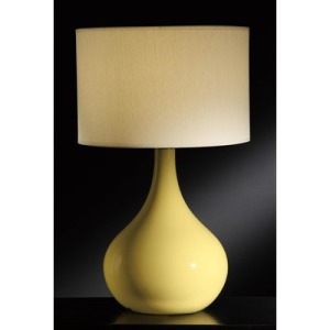 Cabot Yellow Table Lamp