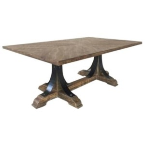 Bengal Manor Iron Trestle Base Cocktail Table