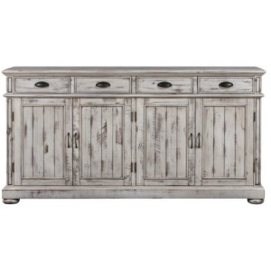 Hawthorne Estate Sideboard - Distressed White Finish