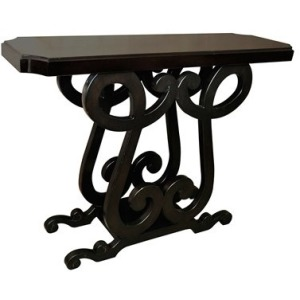 St. Charles Scroll Design Narrow Console
