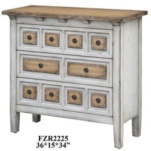 Donovan 3 Drawer Raised Front Two Tone Chest