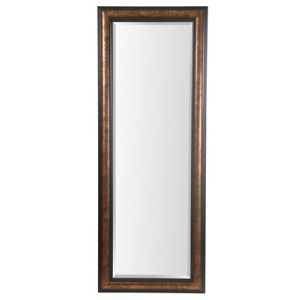 25x65 Metallic Gold With Black Framed Mirror